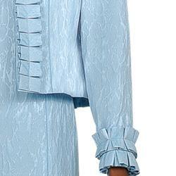 Divine Apparel Womens Jacquard Print Ruffled Dress Set