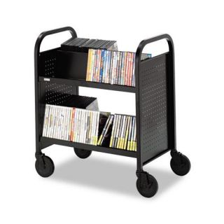 Bretford Steel Slanted shelf Double Sided Book Cart