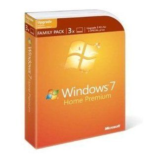 Microsoft Windows 7 Home Premium Upgrade Family Pack (3