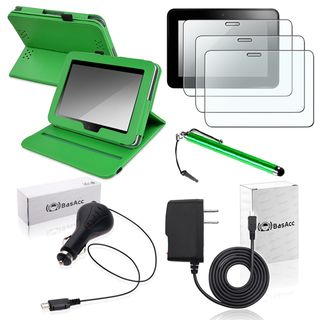 BasAcc Green Case/ Protector/ Stylus/ Headset/ Wrap for Kindle Fire HD