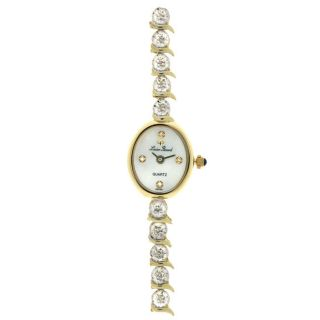 Lucien Piccard Allure 14k Gold Diamond Watch