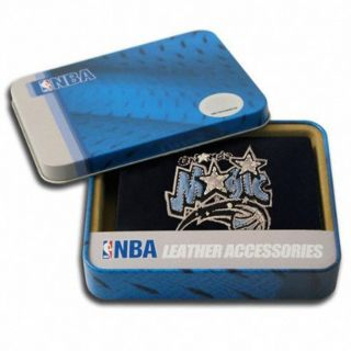 Orlando Magic Mens Black Leather Tri fold Wallet