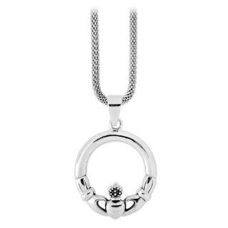Size 9  Inox Jewelry 316L Stainless Steel Greek Keys Ring