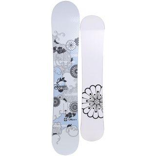 Santa Cruz Womens White Muse 151cm Snowboard