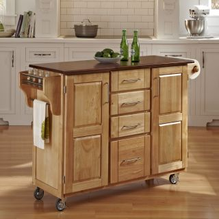 Home Styles Natural Finish 4 drawer Cart Today $449.99