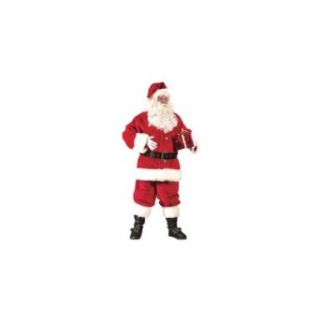 Super Deluxe Adult Santa Suit Christmas Costume: Clothing