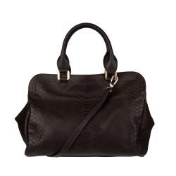 Longchamp Gatsby Embossed Leather Tote Bag