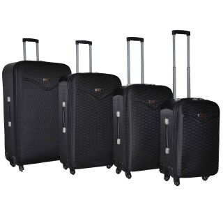 Kemyer Destinations Hipack Black 4 piece Expandable Spinner Luggage