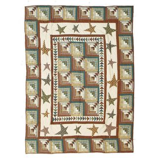 Patch Magic Woodland Star and Geese King Quilt