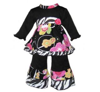 AnnLoren Floral & Zebra Outfit fits American Girl Doll