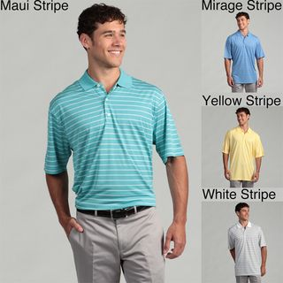 Greg Norman Mens Performance Striped Polo