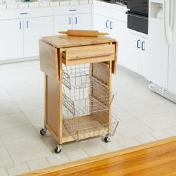 Expandable Wooden Kitchen Island