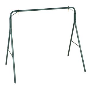 Country Garden Matte Green Powder coated Steel Swing Frame