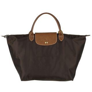 Longchamp Le Pliage Brown Nylon/Leather Travel Bag