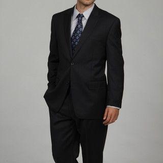 MICHAEL Michael Kors Mens Navy Stripe Wool Suit