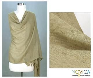 Angora Wool Earth Meditation Shawl (India)