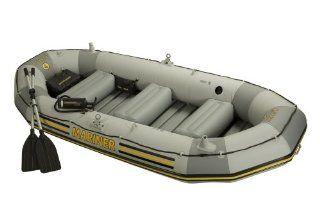 Intex 4 Person Mariner Inflatable Boat Set: Sports