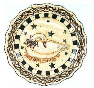 Country Goose Ceramic Platter Decorative Plate Kitchen