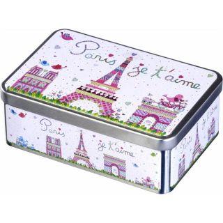 Boîte à sucre Métallique Collection PARIS je taime   Dimensions