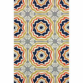 Handmade Indoor/ Outdoor Spanish Tiles Multi Rug