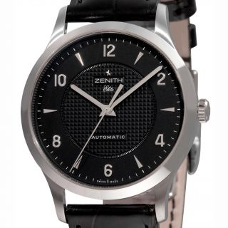 Zenith Mens Class Elite Black Face Automatic Watch