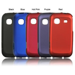 Luxmo Solid Rubber Coated Case for Samsung Trender/ M380