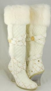 BABY PHAT Odessa Boots Faux Fur White Wms