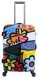 Romero Britto Luggage 22 inches Spinner Case (Flowers