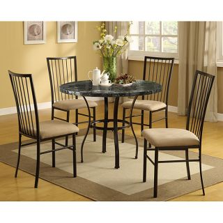 Faux Marble Top 5 piece Pack Dining Set Today $382.31