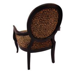 Elliot Leopard Print Black Arm Chair