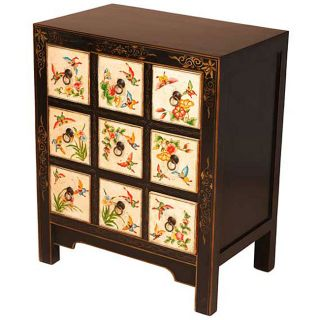 Hand painted Butterflies Storage Cabinet