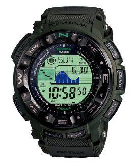 Casio Mens PRG250B 3DR PRG 250B 3DR Military Army Green Quartz Watch