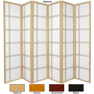 Wood/ Rice Paper 6 foot 6 panel Double Cross Two sided Screen (China