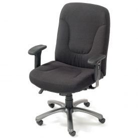 Big & Tall Contoured Office Chair   Black Fabric Office