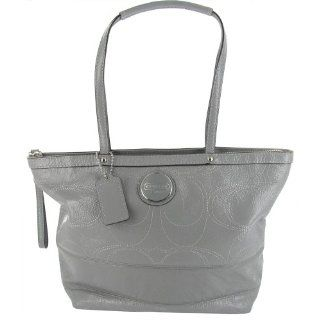 Coach Embossed Signature Patent Leather Gallery North South Tote Bag