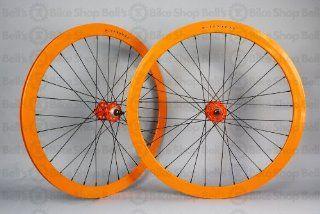 Velocity B43 Track Wheels ORANGE Fixed Gear Deep V: Sports