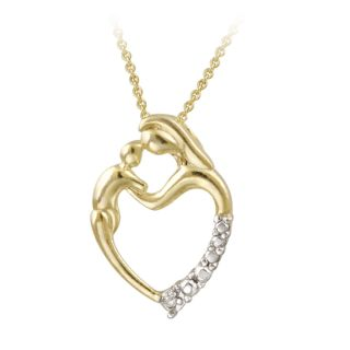 DB Designs 18k Gold over Sterling Silver Diamond Accent Heart Necklace
