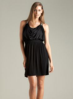 Calvin Klein Draped Dress With Strap Detail