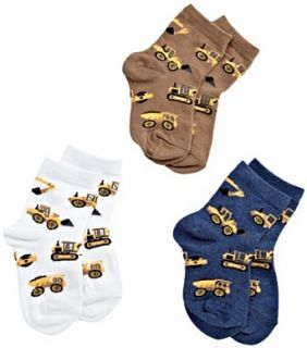 Jefferies Socks Boys 2 7 Construction Triple Treat 3 Pack