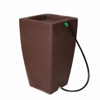 Algreen Madison Fountain (49 Gallon) and Rain Barrel Chocolate Brown