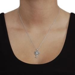 Tressa Sterling Silver Palm Tree Necklace