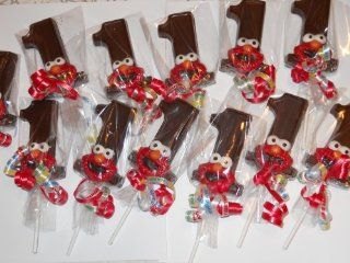 Sesame Street Elmo Gourmet Chocolate First Birthday Sucker Pops Favors