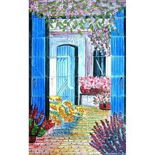 Welcome Atmosphere 40 tile Ceramic Wall Mural