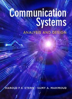 Communication Systems Analysis and Design (9780130402684