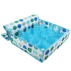 Blue Polka Dots Foldable 16 Compartment Organizer
