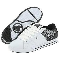 DVS Shoe Company Monument White/Black Leather Print