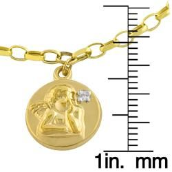 10k Yellow Gold Guardian Angel Charm Bracelet
