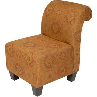 Golden Medallion Roll Back Chair