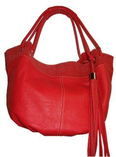 com Womens Innue Genuine Leather Italian Made Handbag (Coral) Shoes