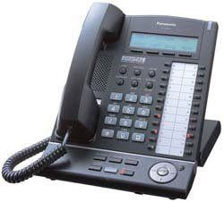 Panasonic KX T7633 B Digital Telephone Black 3 Line LCD